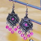 Moroccan Earrings: Pink