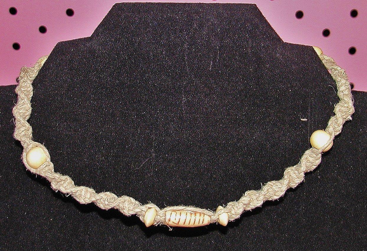 Spiral Bone Hemp Necklace