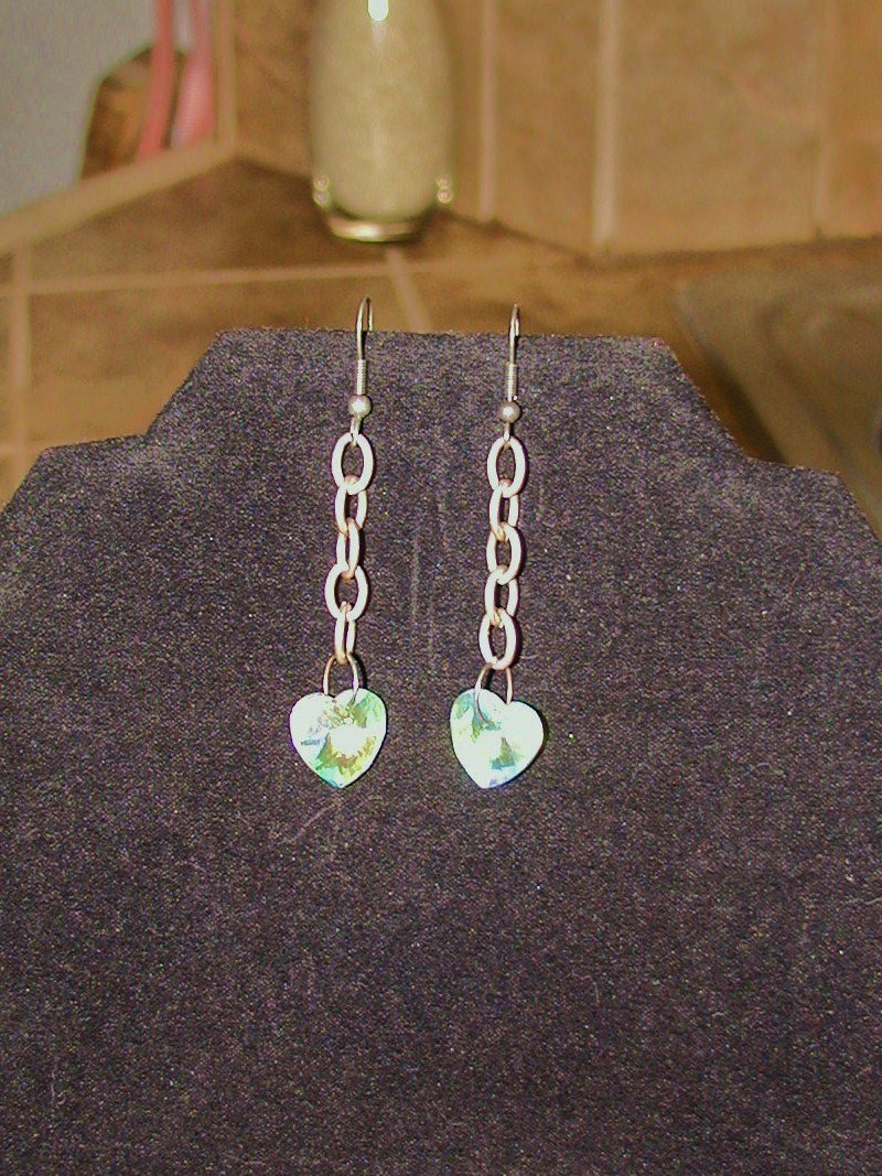 Iridescent Hearts Earrings