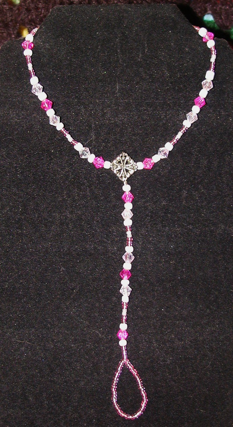 Pretty Pink & Pearls - Barefoot Sandals