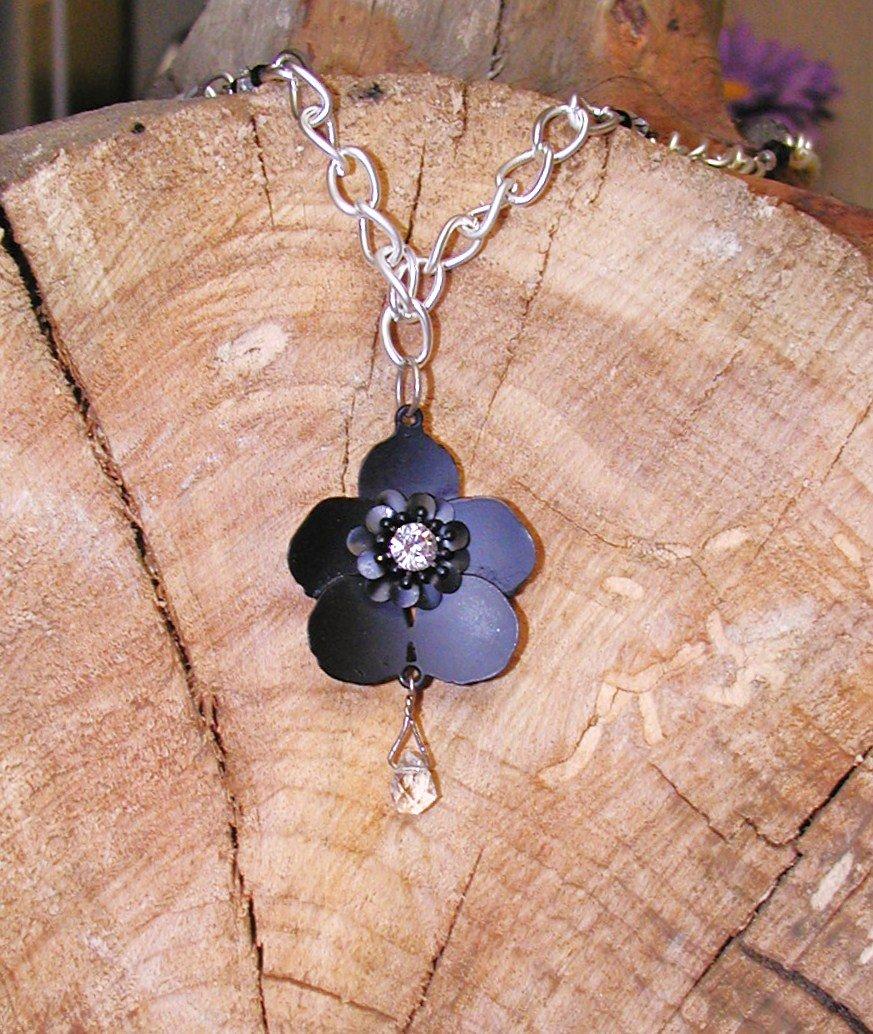 Black Buttercup - Long Necklace