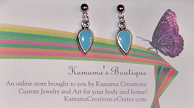 Turquoise Drops Short Earrings