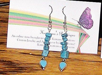Turquoise Drops Long Dangle Earrings