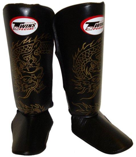 Twins Fancy Shin guards100% genuine leather FSG-6 (Dragon)