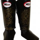 Twins Fancy Shin guards100% genuine leather FSG-6 (Dragon)