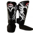 Twins Fancy Shin guards100% genuine leather FSG-9 (TATTOO)