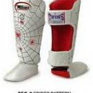 Twins Fancy Shin guards100% genuine leather FSG-8 (SPIDER) MADE TO ORDER
