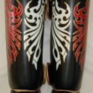 Raja Fancy Shin guards100% genuine leather  (Tattoo) 2RFSP2-1-2
