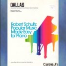 """Dallas"" Easy Piano Solo Theme From TV Series"