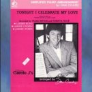 Tonight I Celebrate My Love Piano Solo Dan Coates Simplified Arrangement