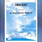Twilight Late Elementary Piano Solo Anne Demarest