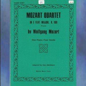 Mozart Quartet In E-flat Major, K. 160 1 Piano/4 Hands