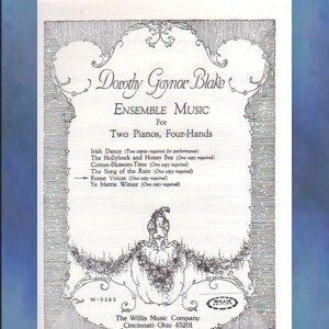 Forest Voices 2 Pianos/4 Hands Dorothy Gaynor Blake NFMC Selection