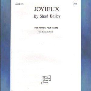 Joyieux 2 Piano/4 Hands Shad Bailey