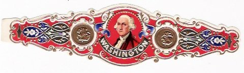 1 BIG CLASSICAL Cigar Band Washington s1 n1