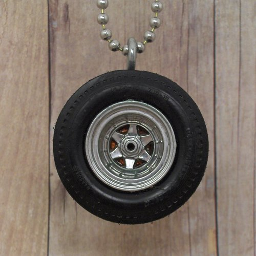 6 pointed Hot Rod Custom Wheel Necklace