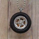 Tangerine Goodyear : Wheel Necklace