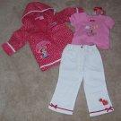 Strawberry Shortcake 3pc Outfit Raincoat Shirt Pants Size 2T