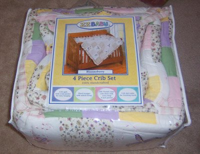 ZZ Baby Bloomsbury Dragonfly Crib Set 4pc Quilt Bumper Skirt Sheet NWT