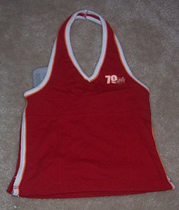 No Boundaries Red Surf Halter Top Girls Size 4 5 NWT