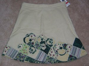 GAP Khaki Skirt Wonderful School Length Size 7 Regular NWT