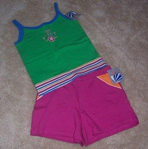 Hanes Sport 2pc Outfit Top & Shorts Cute Size 7 8 NWT