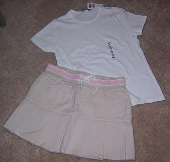 Old Navy Khaki Skirt Girls Size 12 NWOT