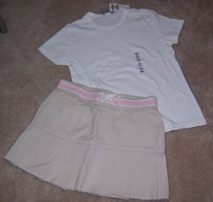 Old Navy Khaki Skirt Girls Size 12 NWOT