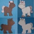 "ONE 3""  Customized Horse Die Cut"