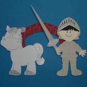 "3"" Customized Knight w/ Horse and Bridge"