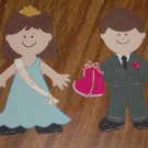 "3"" Customized Prom King and Queen"