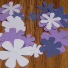 Shades of Purple Flower Die Cuts - 40 pcs