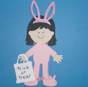 "3"" Customized Bunny Trick or Treater"