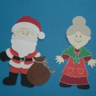 "3"" Santa and Mrs. Claus"