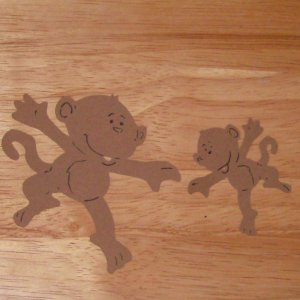 Monkey Pair Die Cut