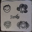 """Family"" Coasters - Set of 4"