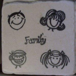 """Family"" Coasters - Set of 4"