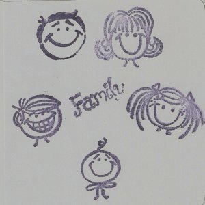 """""""Family"""" Coasters - Set of 5 -5 Member layout"""