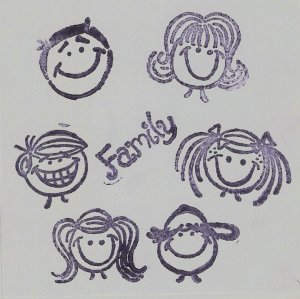 """Family"" Coasters - Set of 6 -6 Member layout"