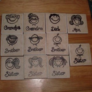Family  Magnet Set - Choice of 4
