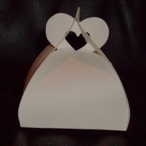 Customized Heart Favor Box (unfolded)