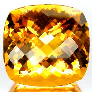 28.80 Ct.Magnificent! Checkerboard Golden Yellow CITRINE