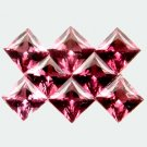 1.98 Ct. 8 Pcs Pretty 100%Natural Square RHODOLITE GARNET
