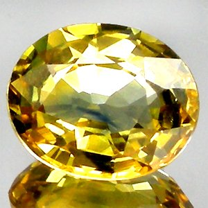 Beautiful Oval Facet 100%Natural Yellow Sapphire Thailand