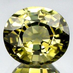 1.34 Ct.Delightful Oval Natural Yellowish Green Tourmaline