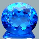 25.20Ct.Magnificent Oval Corn Flower Blue Quartz Brazil