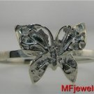 LADIES 14KT WHITE GOLD BUTTERFLY RING lr111