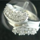 1.1CT RIGHT HAND DIAMOND RING 14KT WHITE GOLD lr5