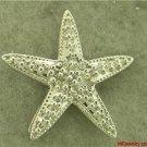 .33ct DIAMOND STAR PENDANT  10K WHITE GOLD lp223