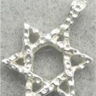 NEW JEWISH STAR MAGEN DAVID PENDANT JUDAICA SILVER lp61